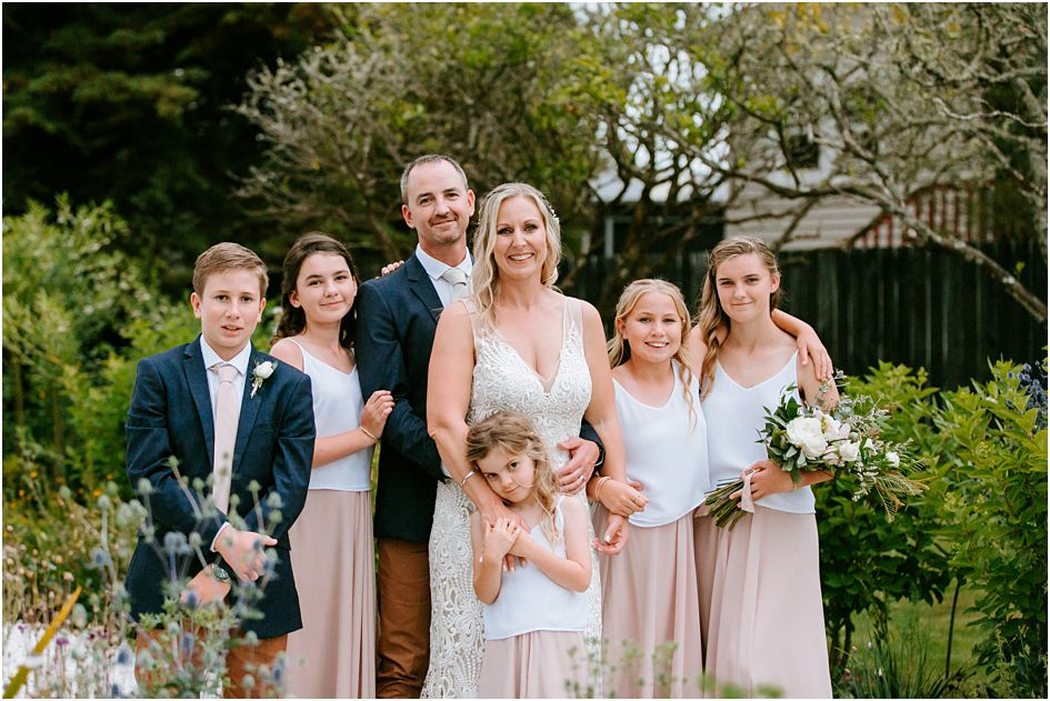 Blended Wedding Family